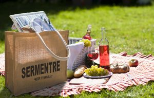 Picnic in the garden! Fresh food in nautre!